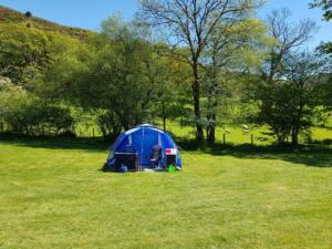 Tent with electric hook up